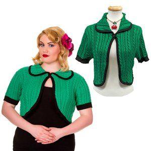 Banned Annabelle Bolero Cardigan in Emerald Green